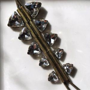 """Traci Lynn Antiqued Rhinestone Bolo Necklace 18"""""""
